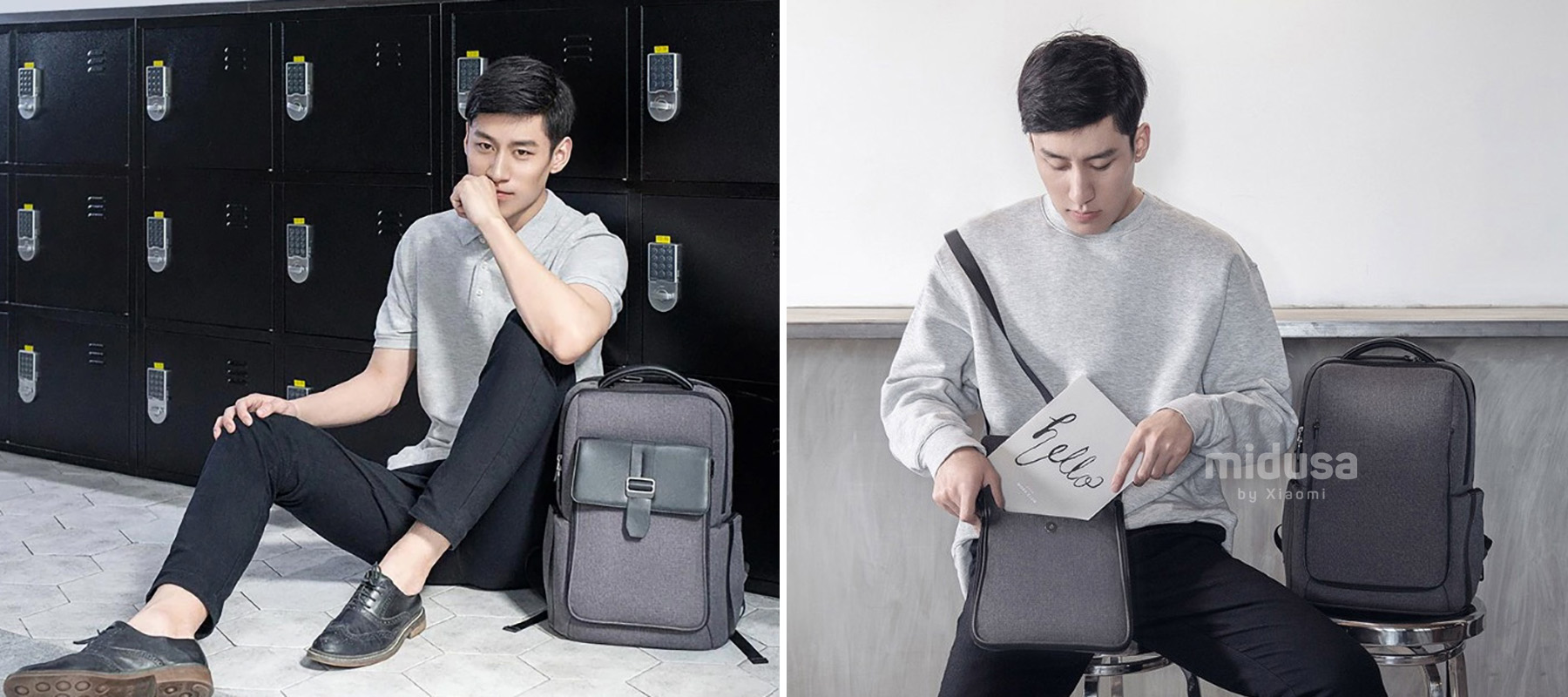 Mi Fashion Commuter Backpack (XMBB02RM) Dark Grey1.jpg