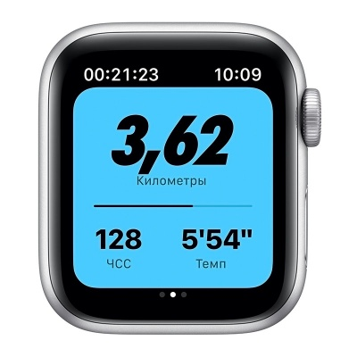 Apple Watch Nike SE 40mm Silver Aluminum Case with Nike Pure Platinum/Black Sport Band